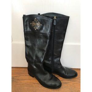 Black Tory Burch Logo Boots